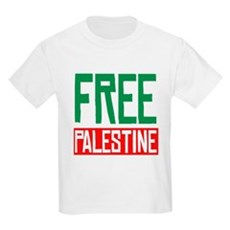 Free Palestine ????? ?????? Kids Light T-Shirt