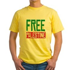 Free Palestine ????? ?????? Yellow T-Shirt
