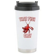 That Fish Cray Stainless Steel Travel Mug