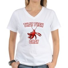 That Fish Cray Womens V-Neck T-Shirt