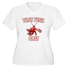That Fish Cray Plus Size V-Neck Shirt