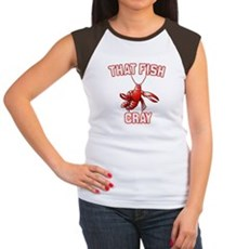 That Fish Cray Womens Cap Sleeve T-Shirt