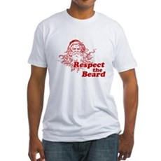 Respect the Beard Fitted T-Shirt