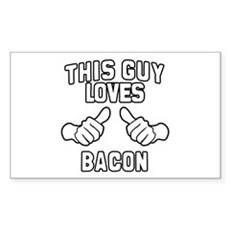 This Guy Loves Bacon Rectangle Sticker