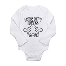 This Guy Loves Bacon Long Sleeve Infant Bodysuit