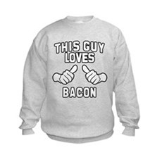 This Guy Loves Bacon Kids Sweatshirt