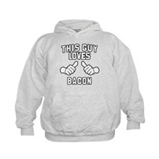 This Guy Loves Bacon Kids Hoodie