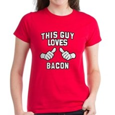 This Guy Loves Bacon Womens T-Shirt