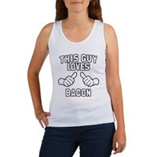 This Guy Loves Bacon Womens Tank Top