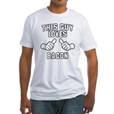 This Guy Loves Bacon Fitted T-Shirt