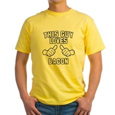 This Guy Loves Bacon Yellow T-Shirt