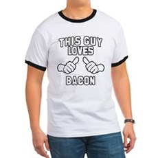 This Guy Loves Bacon Ringer T