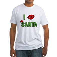 I Kissed Santa Fitted T-Shirt