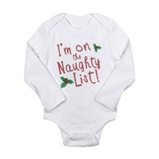 Im on the Naughty List Long Sleeve Infant Bodysuit