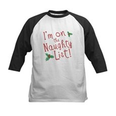 Im on the Naughty List Kids Baseball Jersey
