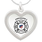 Firefighters Wife Heart Shaped Necklace