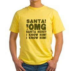 Santa! I Know Him! Yellow T-Shirt