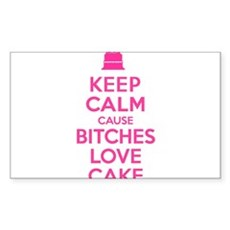 Bitches Love Cake Rectangle Sticker