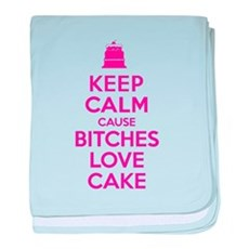 Bitches Love Cake baby blanket