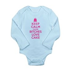 Bitches Love Cake Long Sleeve Infant Bodysuit