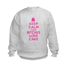 Bitches Love Cake Kids Sweatshirt