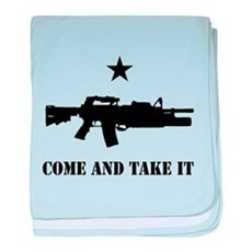Come and Take It baby blanket