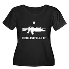 Come and Take It Womens Plus Size Scoop Neck Dark