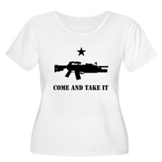 Come and Take It Womens Plus Size Scoop Neck T-Sh