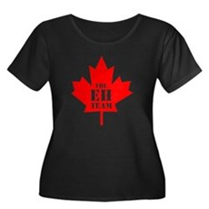 The Eh Team Womens Plus Size Scoop Neck Dark T-Sh