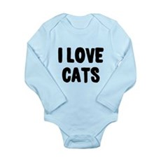 I Love Cats Long Sleeve Infant Bodysuit