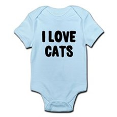 I Love Cats Infant Bodysuit
