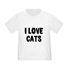 I Love Cats Toddler T-Shirt
