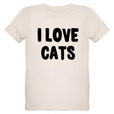 I Love Cats Organic Kids T-Shirt
