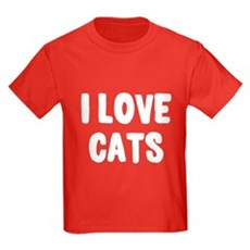 I Love Cats Kids T-Shirt