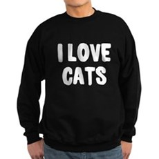 I Love Cats Dark Sweatshirt