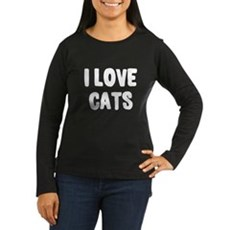 I Love Cats Womens Long Sleeve T-Shirt