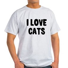 I Love Cats Light T-Shirt