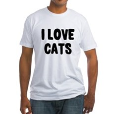 I Love Cats Fitted T-Shirt