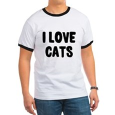 I Love Cats Ringer T