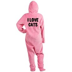 I Love Cats Footed Pajamas