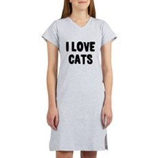 I Love Cats Womens Nightshirt