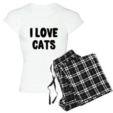 I Love Cats Womens Light Pajamas