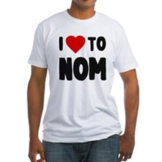 I Love to Nom Fitted T-Shirt