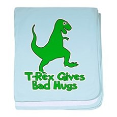 T-Rex Gives Bad Hugs baby blanket