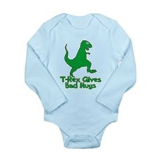 T-Rex Gives Bad Hugs Long Sleeve Infant Bodysuit