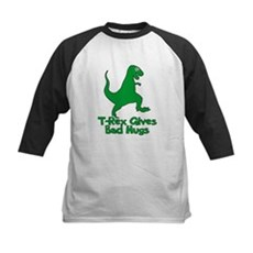 T-Rex Gives Bad Hugs Kids Baseball Jersey