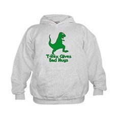 T-Rex Gives Bad Hugs Kids Hoodie
