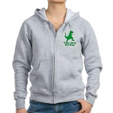T-Rex Gives Bad Hugs Womens Zip Hoodie