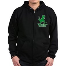 T-Rex Gives Bad Hugs Zip Dark Hoodie