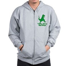 T-Rex Gives Bad Hugs Zip Hoodie